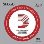 DADDARIO 0019954292058  10個 D& 039 Addario ダダリオ バンジョー用バラ弦 ループエンド Plain steel .012 LE012