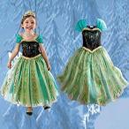 アナと雪の女王Elsa Anna アナワンピースドレス子供用 ハロウィン仮装 コスプレ衣装140