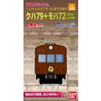 Bトレインショーティー Yamanote History 1 クハ79+モハ72 茶色 山手線 (先頭+中間 2両入り)  【バンダイ】
