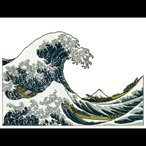 蒔絵シール 「日本の意匠 北斎 波裏」ステッカー 葛飾北斎 浮世絵 絵画