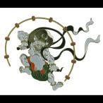 蒔絵シール 「日本の意匠 雷神」ステッカー 俵屋宗達 風神雷神図屏風 浮世絵 絵画