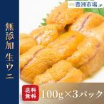 海胆 - 生ウニ 生うに 冷凍 無添加 天然 300g 100g×3パック(ウニ うに 雲丹)