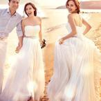 Yahoo!トヨワストアウェディングドレス サッシュベルト 安い ウエディングドレス 二次会 aラインドレス 花嫁 パーティードレス 演奏会 披露宴 ブライダル 結婚式 ロングドレス 白