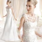 Yahoo!トヨワストアウェディングドレス Aライン 安い ウエディングドレス 二次会 花嫁 パーティードレス 披露宴 ブライダル 結婚式 ロングドレス 白 大きいサイズ シンプルドレス