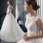 ウェディングドレス 結婚式 aラインドレス ウエディン
