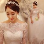 Yahoo!トヨワストアウエディングドレス 袖付き 二次会 ウェディングドレス 安い 秋冬 結婚式 プリンセス エンパイア 花嫁 ドレス 披露宴 ロングドレス ブライダル 大きいサイズ