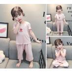 子供パジャマ ルームウェア 80~120cm 上下セット   寝間着 部屋着  可愛い ナイトウェア 綿 春夏   半袖