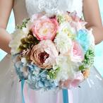 Yahoo!トヨワストアウエディングブーケ ブートニア 安い 結婚式 ウェディングブーケ 花嫁 アレンジメント 披露宴 ウェディング用 造花 ブライダルブーケ 手作り キット