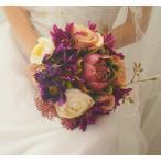 ウエディングブーケ ブートニア 安い 結婚式 ブーケ 花嫁 アレンジメント 披露宴 ウェディング用 ローズ 造花 ブライダルブーケ 手作り キット