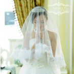 ウエディングベール ショートベール 安い 結婚式ベール 花嫁 フェイスアップベール フラワーベール 披露宴 二次会 ブライダルベール マリアベール オフホワイト