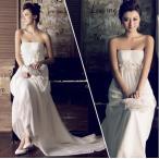 Yahoo!トヨワストアウエディングドレス マタニティ エンパイア 安い 二次会 ウェディングドレス 結婚式 花嫁 ブライダル ロングドレス 白 パーティドレス 妊婦着 大きいサイズ