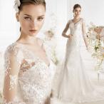 マーメイドドレス 長袖 ウエディングドレス 安い ロングドレス 結婚式 花嫁 ブライダル ウェディングドレス 二次会 ウエディングマーメイドドレス wedding dress
