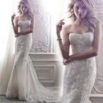 ウェディングドレス マーメイドライン ウエディングドレス 安い 花嫁 ロングドレス 披露宴 マーメイドドレス 二次会 結婚式 バックレス シンプルドレス
