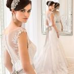 ウェディングドレス マーメイドライン ウエディングドレス 安い 花嫁 披露宴 マーメイドドレス ロングドレス 二次会 ブライダル 結婚式 サッシュリボン wedding