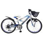 24インチ 子供用自転車 スプリンガーCR2 (シルバー)【男の子向け】【送料無料】