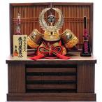 【五月人形】兜収納飾り「徳川家康赤絲縅格子」【送料無料】