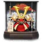 五月人形 兜ケース飾り 赤富士六角アクリル