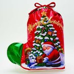 【クリスマス】ソックス ギフトバッグ サンタ レッド M