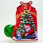 【クリスマス】ソックス ギフトバッグ サンタ レッド L