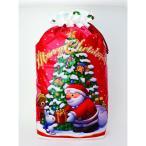 【クリスマス】リボン ギフトバッグ サンタ レッド ジャンボ