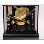 五月人形 トイザらス限定 着用兜ケース飾り 伊達政宗満月に金彩龍