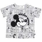 ディズニー ミッキー 半袖 コミック柄 Tシャツ(ホワイト×80cm)