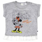 ベビーザらス限定 ディズニー ミニー フレンチスリーブTシャツ(グレー×80cm)