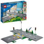 レゴ シティ 60304 つながる!ロードプレート 交差点