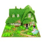 3D立体パズル ペーパークラフト みにちゅあーとキット スタジオジブリmini 魔女の宅急便 オキノ邸 MP07-06 メール便送料無料