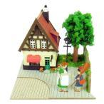 3D立体パズル ペーパークラフト みにちゅあーとキット スタジオジブリmini 魔女の宅急便 オソノさんとキキ MP07-07 メール便送料無料