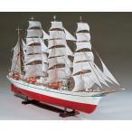 ★【木工用アロンアルファ+カッター+紙やすり付き】 ウッディジョー 木製帆船模型 1/80 日本丸 送料無料