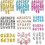 バルーン 風船 飾り付け 数字 アルファベット 誕生日 イベント装飾 ゴールド シルバー ピンクゴールド ピンク ブルー 5色選べる 組み合わせ 自由