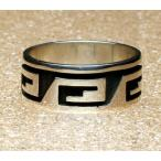 ホピリング Weaver Selina作 スターリングシルバー オーバーレイ 指輪11.5号