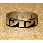 ホピリング|Weaver Selina作|スターリングシルバー|オーバーレイ|指輪12.5号
