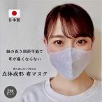 在庫あり 布マスク 洗える 日本製 国産 夏用 涼しい 冷感 綿 麻 シャツ生地 立体 おしゃれ 紐 調節可能 耳 痛くない 繰り返し 使える 大人 子供 男女兼用 2枚