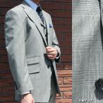 春夏秋 メンズ スーツ 3つボタン スリーピース グレンチェック THEO DORE 英国調 0115