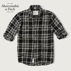 Abercrombie&Fitch モノトーンチェックネルシャツ