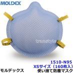 ショッピングN95 モルデックス医療用使い捨て式防塵マスク 1510-N95 XSサイズ (160枚入) PM2.5/防じん/作業/工事/医療用/粉塵/MOLDEX