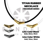 Yahoo!DEPARTMENTSTORESBANDEL バンデル 新商品 TITAN RUBBER NECKLACE チタン ラバー ネックレス 新商品 バランス 運動 スポーツ アクセサリー ギフト プレゼント 正規販売店