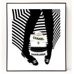 パロディ ポップ アート キャンバス アート パネル フレーム ポスター インテリア 壁 ウォールステッカー Chanel シャネル Canvas Pop Art CANVAS-0024