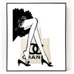 パロディ ポップ アート キャンバス アート パネル フレーム ポスター インテリア 壁 ウォールステッカー Chanel シャネル Canvas Pop Art CANVAS-0048