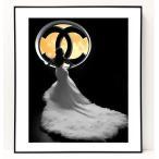 パロディ ポップ アート キャンバス アート パネル フレーム ポスター インテリア 壁 ウォールステッカー Chanel シャネル Canvas Pop Art CANVAS-0064