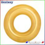 送料込み 代金引換不可 浮き輪 91cm うきわ インテックス に次ぐメーカー ベストウェイ/Gold Swim Ring BESTWAY