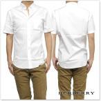 ショッピングBURBERRY BURBERRY バーバリー メンズ半袖シャツ 4004720 ホワイト