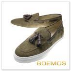 BOEMOS ボエモス メンズレザータッセルスリッポン E5-4416 / VIVEL カーキブラウン