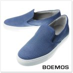 BOEMOS ボエモス メンズスリッポンスニーカー E7-4329 / CROSTA STAMPA ブルー