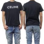CELINE セリーヌ メンズクルーネックTシャツ 2X308916G ブラック /2021春夏新作