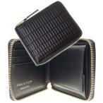 COMME DES GARCONS コムデギャルソン メンズ二つ折り財布(小銭入れ付き) BRICK LINE BLACK / SA7100BK ブラック /2021春夏新作