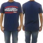 DSQUARED2 ディースクエアード メンズクルーネックTシャツ S74GD0639 S21600 ブルー