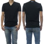 DOLCE&GABBANA UNDERWEAR ドルチェ&ガッバーナ アンダーウェア メンズVネックTシャツ N8D53J FUEB0 ブラック